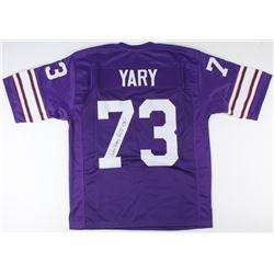 "Ron Yary Signed Vikings Jersey Inscribed ""HOF '01"" (JSA COA)"