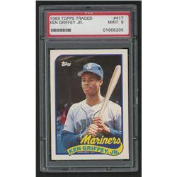 1989 Topps Traded #41T Ken Griffey Jr. RC (PSA 9)
