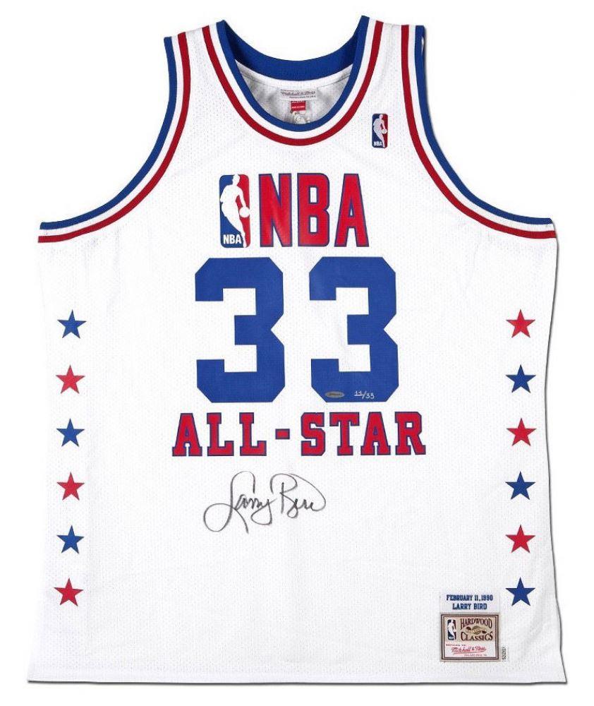 quality design f6753 ea63d Larry Bird Signed LE 1990 NBA All-Star Jersey (UDA COA)
