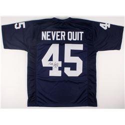 "Rudy Ruettiger Signed Notre Dame Fighting Irish ""Never Quit"" Jersey (JSA COA)"