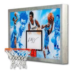 "Andrew Wiggins Signed LE Timberwolves ""Do It All"" 18.5x30.5 Custom Framed Backboard Display (UDA COA"