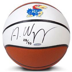 Andrew Wiggins Signed LE Kansas Jayhawks Logo Basketball (UDA COA)