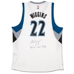 """Andrew Wiggins Signed LE Timberwolves Jersey Inscribed """"2014-2015 ROY"""" (UDA COA)"""