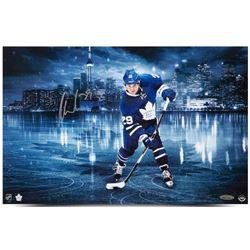 """William Nylander Signed Maple Leafs """"Toronto Skyline"""" 11x17 Photo (UDA COA)"""