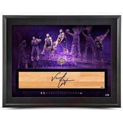 "Vince Carter Signed LE Raptors 2000 NBA Dunk Contest ""It's Over"" 24x36 Custom Framed Game-Used Floor"