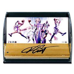 Vince Carter Signed LE  Vinsanity  Game-Used Floor Piece With Custom Curved Display (UDA COA)