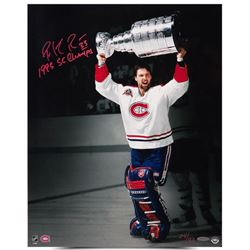 Patrick Roy Signed Canadiens  93 SC Champs  16x20 Limited Edition Photo Inscribed  1993 SC Champs  (