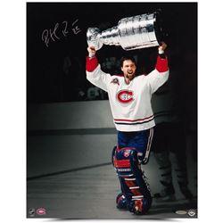 Patrick Roy Signed Canadiens  1992-93 Stanley Cup Celebration  16x20 Photo (UDA COA)