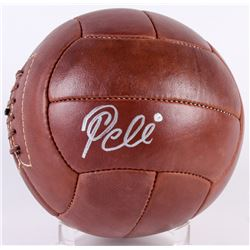 Pele Signed Leather Soccer Ball (PSA Hologram)