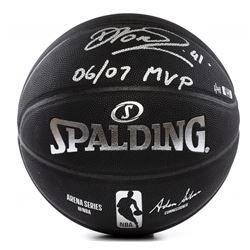 "Dirk Nowitzki Signed LE NBA Arena Series Black Basketball Inscribed ""06/07 MVP"" (Panini COA)"