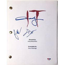 "Andy Muschietti, Jack Dylan Grazer  Jaeden Lieberher Signed ""It"" Full Movie Script (PSA LOA)"
