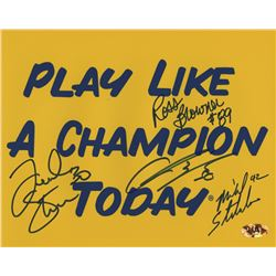 """Notre Dame Fighting Irish """"Play Like A Champion""""  8x10 Photo Signed by (4) with Frank Stams, Mike St"""