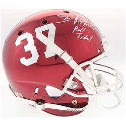 "Shaun Alexander Signed Alabama Crimson Tide Full-Size Chrome Helmet Inscribed ""Roll Tide!"" (Beckett"