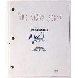 "M. Night Shyamalan Signed ""The Sixth Sense"" Full Movie Script (PSA COA)"