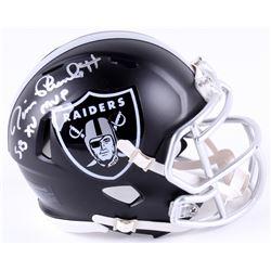 "Jim Plunkett Signed Raiders Mini Blaze Speed Helmet Inscribed ""SB XV MVP"" (Radtke COA)"