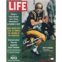"Roger Staubach Signed Navy Midshipmen Life Magazine Cover 16x20 Photo Inscribed ""Heisman '63"" (JSA C"