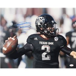 "Johnny Manziel Signed Texas AM Aggies 16x20 Photo Inscribed ""-12 HT"" (JSA COA)"