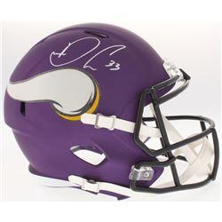 Dalvin Cook Signed Vikings Full-Size Custom Matte Purple Speed Helmet (JSA COA)