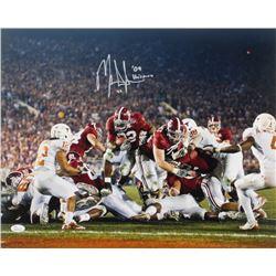 """Mark Ingram Jr. Signed Alabama Crimson Tide 16x20 Photo Inscribed """"'09 Heisman"""" (JSA COA)"""