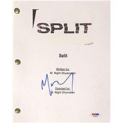 "M. Night Shyamalan Signed ""Split"" Full Movie Script (PSA COA)"