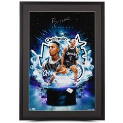 "Penny Hardaway Signed LE Magic ""Magician"" 24x34 Custom Framed Photo Display (UDA COA)"