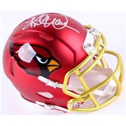 Kurt Warner Signed Cardinals Blaze Speed Mini Helmet (Radtke COA  Warner Hologram)