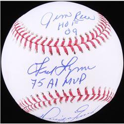Jim Rice, Fred Lynn  Dwight Evans Signed OML Baseball with (3) Inscriptions (JSA COA)