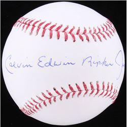 Calvin Edwin Ripken Jr. Signed OML Baseball (JSA COA)