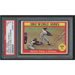 1961 Topps #307 World Series Game 2 / Mickey Mantle (PSA 5)