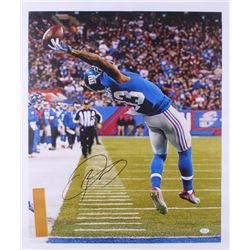 "Odell Beckham Jr. Signed Giants ""The Catch""  21x25 Photo On Canvas (JSA COA)"