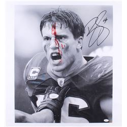 Brian Cushing Signed Texans 21x26 Photo On Canvas (JSA COA)