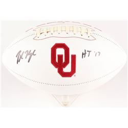 "Baker Mayfield Signed Oklahoma Sooners Logo Football Inscribed ""HT '17"" (Beckett COA)"