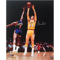 Jerry West Signed Lakers 16x20 Photo (PSA COA)