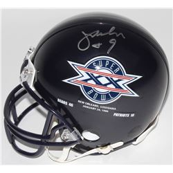 Jim McMahon Signed Bears Mini Helmet With Super Bowl XX Logo (Schwartz COA)