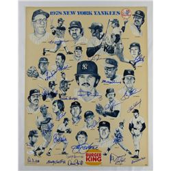 1978 Yankees 17x22 Poster Team-Signed by (27) with Reggie Jackson, Lou Piniella, Cliff Johnson, Chri