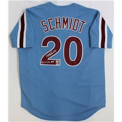 "Mike Schmidt Signed Phillies Jersey Inscribed ""80 NL/WS MVP"" (Fanatics Hologram  MLB Hologram)"