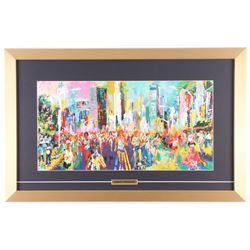 "LeRoy Neiman ""The New York City Marathon"" 16x25 Custom Framed Print Display"