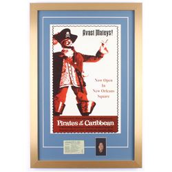 Disney's  Pirates of the Caribbean  New Orleans Square 17x25 Custom Framed Print Display with Vintag