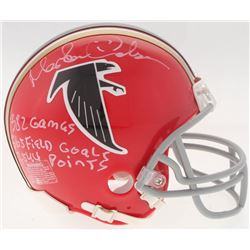 Morten Andersen Signed Falcons Mini Helmet Inscribed  382 Games ,  565 Field Goals ,   2544 Points