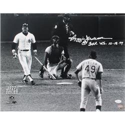 "Reggie Jackson Signed Yankees 16x20 Photo Inscribed ""3 HR W.S. 10-18-77"" (JSA COA)"