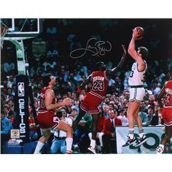Larry Bird Signed Celtics 16x20 Photo (Schwartz COA)