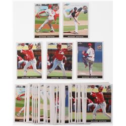 Lot of (50)  2018 Leaf National Convention Shohei Ohtani Baseball Cards with #01, #02, #03, #04,  #0