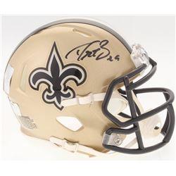Drew Brees Signed Saints Speed Mini-Helmet (Radtke COA  Brees Hologram)