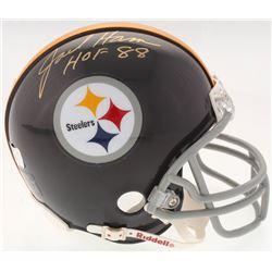 "Jack Ham Signed Steelers Throwback Mini-Helmet Inscribed ""HOF 88"" (Radtke Hologram)"