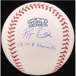 """Ryan Braiser Signed 2018 World Series Baseball Inscribed """"18 WS Champs"""" (MLB Hologram  Beckett COA)"""