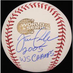 "Joe Crede Signed 2005 World Series Logo Baseball Inscribed ""2005 WS Champs"" (Schwartz COA)"