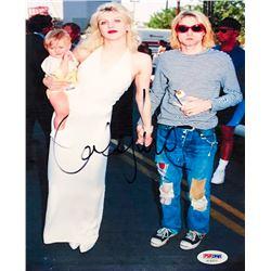 Courtney Love Signed 8x10 Photo with Kurt Cobain (PSA COA)