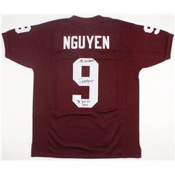 "Dat Nguyen Signed Texas AM Jersey Inscribed ""'98 Lombardi""  ""'98 Big XII DPOY"" (JSA COA)"
