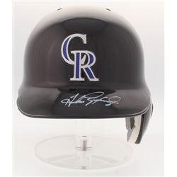 Andres Galarraga Signed Rockies Authentic Full-Size Batting Helmet (Radtke COA)