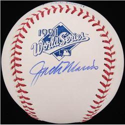 Jack Morris Signed 1991 World Series Logo Baseball (Schwartz COA)